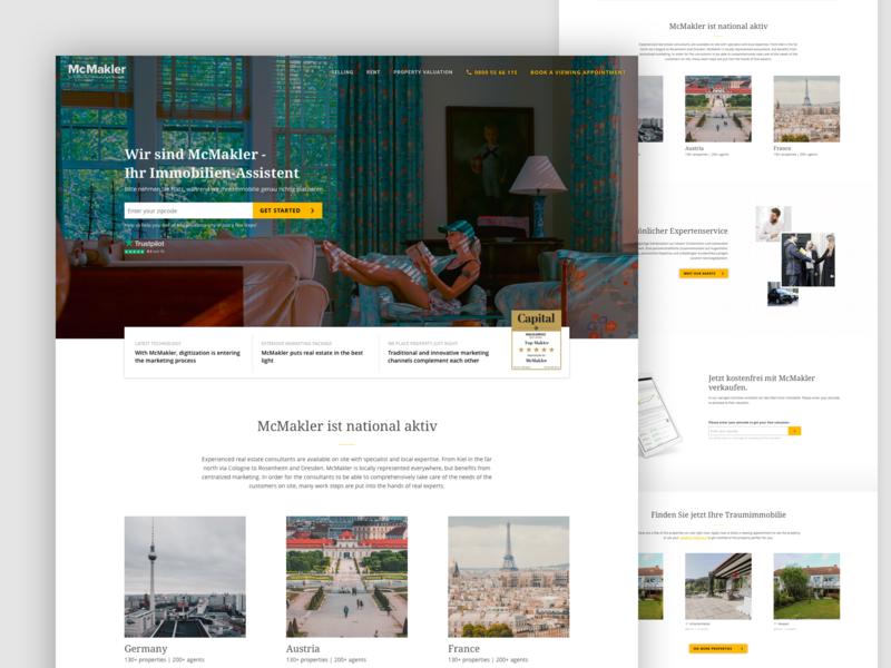 Website concept homepage website real estate redesign concept branding ui design