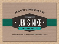 Retro Save The Date
