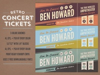 Retro Concert Tickets