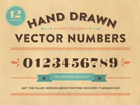 Free Hand Drawn Vector Numbers