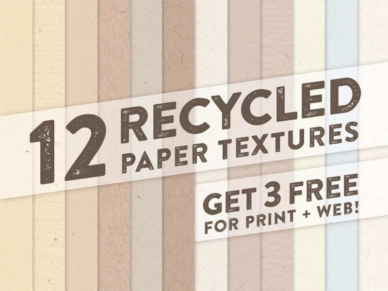Free Recycled Paper Textures by Teela Cunningham on Dribbble