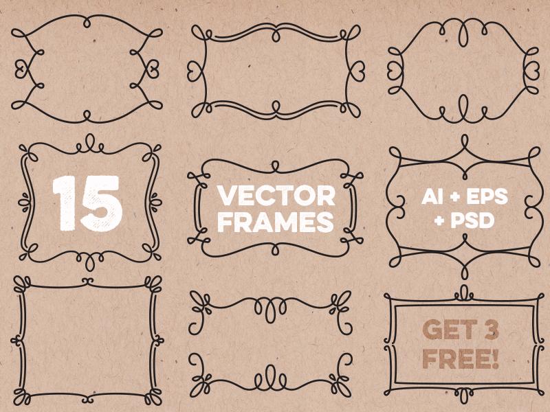 Free Vector Decorative Frames by Teela Cunningham - Dribbble