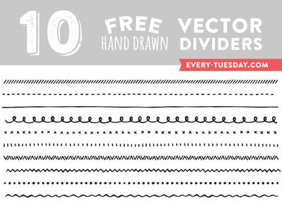 Free Hand Drawn Vector Dividers free freebie freebies hand drawn drawn illustrated illustration vector dividers print web