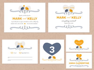 Lovebirds Wedding Pack love lovebirds wedding pack tutorial how to illustrator stationery invite invitation
