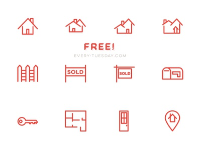 Free Real Estate Vector Icon Set real estate free freebie vector icon icons home house ai eps