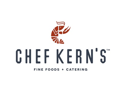Chef Kern's Logo chef branding catering food logo redesign crawfish icon custom