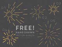 Free Hand Drawn Vector Bursts