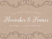 Free Vector Flourishes + Frame Elements