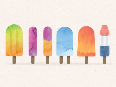 How to Create a Watercolor Popsicle in Illustrator summer video how to illustrator ice cream tutorial popsicles popsicle watercolour watercolor