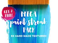 2 Free Paint Streak Textures