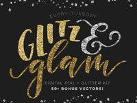 Glitz + Glam Kit textures texture vectors brushes photoshop pattern layer styles glitter hot foil foil glam glitz