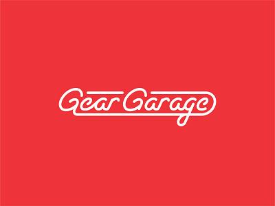 Gear Garage simple icon logos logo designer logo design logo mark logotype typography vector branding design illustrator logo