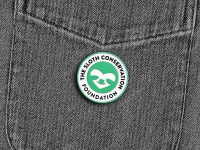 SLOTH CONSERVATION FOUNDATION typography durban africa design vector logo branding simple illustrator illustration