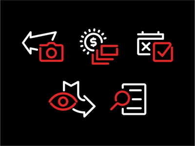 Gear Garage Iconography brand design icon icon design illustration branding identity icons icon set iconography