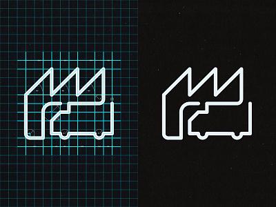 FACTORY ICON logo iconography icon design logo design ui vector simple branding illustration icon