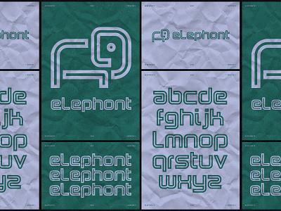 ELEPHONT typography design logo design iconography vector illustration icon logo branding