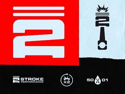 Two Stroke Iconography design logo design iconography vector illustration icon logo branding