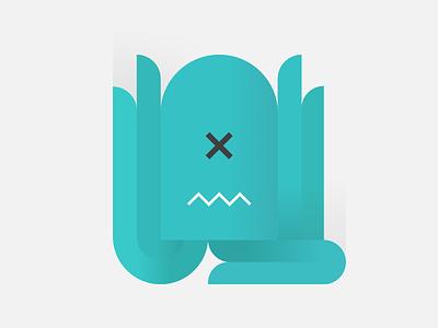 octopus. shape simple minimal designer affinity monster animal sea octopus