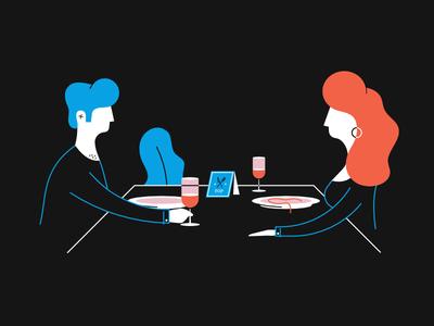 gastro. mode blend organic affinity outline people restaurant