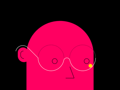 follow your idea. man character glasses scene minimal affinity video explainer idea