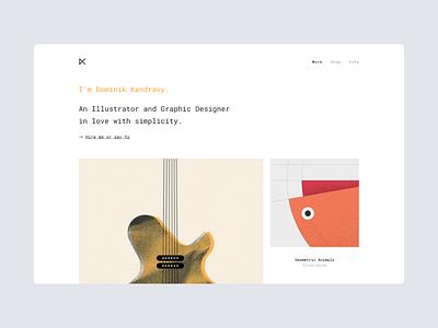 portfolio. semplice simple webdesign website minimal portfolio