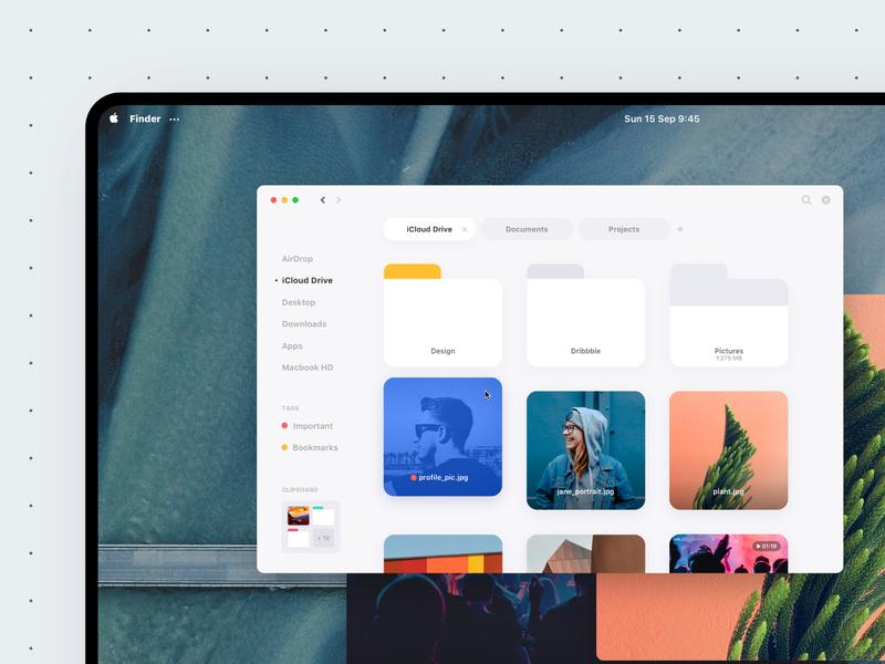 MacOS Concept • Sneak Peek concept mac apple macos ui uidesign minimal