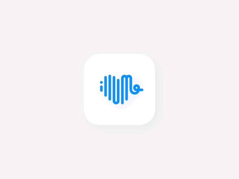 Illume Health chart graph stats lines heart minimal icon app icon watchos iosapp ios branding logo