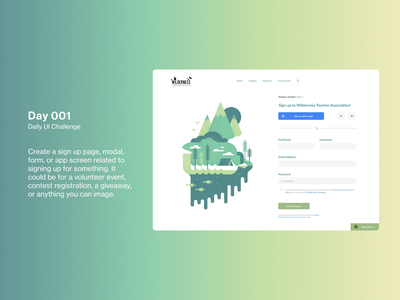 Daily UI 001: Sign-up Page website design ux daily tourist sign up page traveller log in page daily ui design log in sign up sign up page daily ui challenge tourism website tourism ui