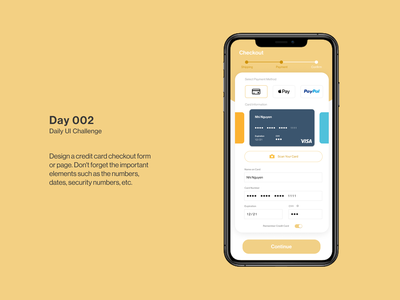 Daily UI 002: Credit Card Checkout Page daily daily ui design ux design ui design dailyui checkout page credit card payment daily ui challenge ux ui