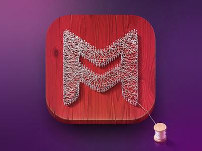 Just nails, string and wood logo icon illustration nail wood handmade color dribbble