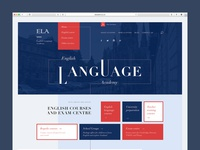 Website for language academy