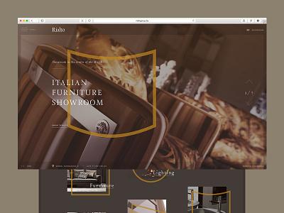 Italian showroom web website promo showroom italian