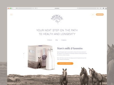 Website web website promo horse milk