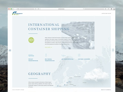 International shipping site web website blue cloud dribbble design webdesign