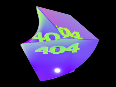 404 interaction video motion graphicdesign design cinema 4d c4d colors light holographic hologram holo cube 404