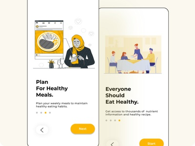 Plan your meal app design food app illustration ui design