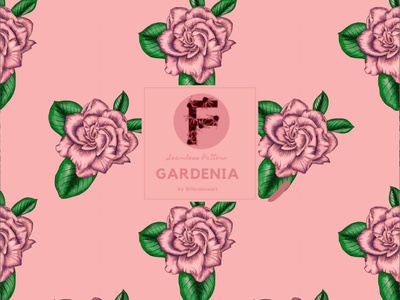 Gardenia Floral Pattern Design fabric pattern botanical flowers seamless pattern nature pattern illustration flowers fabric design botanical garden flower print surface design