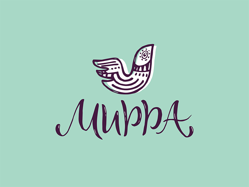 Mirra bird old logotype logo cyrillic letter lettering