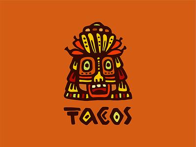 Tacos cafe logotype logo tacos cafe food hot mexica