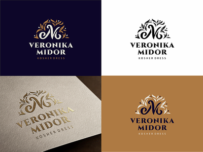 Veronika Midor logo monogram logotype logo dress fashion kosher