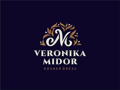 Veronika Midor logotype monogram logotype logo dress fashion kosher