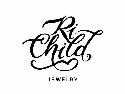 RiChild logo kids handlettering lettering logotype logo jewelry