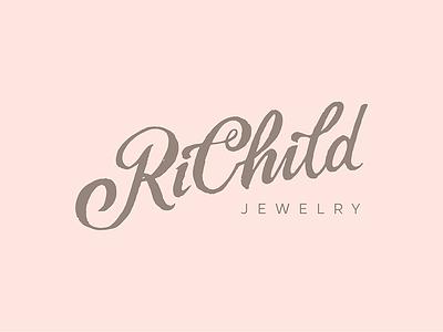 RiChild logo version2 kids handlettering lettering logotype logo jewelry