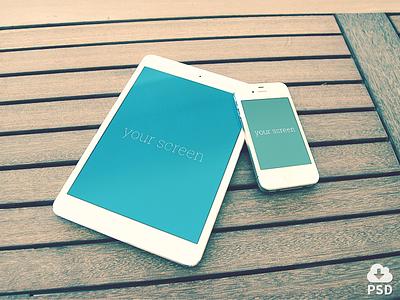 Free Iphone & Ipad mockups mockup ipad iphone design freebie device hires psd mock-up download