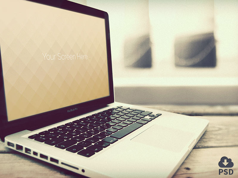 Vintage Macbook Mockup mockup macbook design freebie device hires psd mock-up download