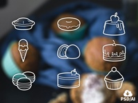 Free Set of Sweets Icons