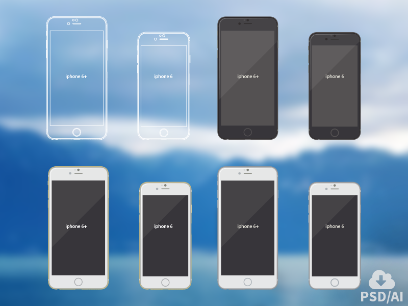 Iphone 6 vector mockups mockup iphone 6 iphone design freebie device hires psd mock-up download