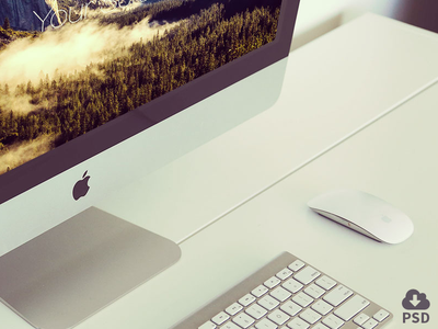 Free iMac mockups imac mockup psd freebie devices apple download mock-up