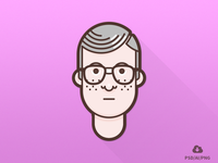 The Nerd - From the Set Of Material Design Flat Avatars