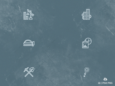Free Construction Outline Icon Set free freebie psd icon design vector building construction outline icons